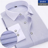 New Arrived 2017 mens work shirts Brand Long sleeve striped /twill men dress shirts white male shirts 4xl 13colors