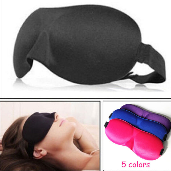 MOONBIFFY 1 PCS HOT SALE 3D Portable Soft Travel Sleep Rest Aid Eye Mask Cover Eye Patch Sleeping Mask Case