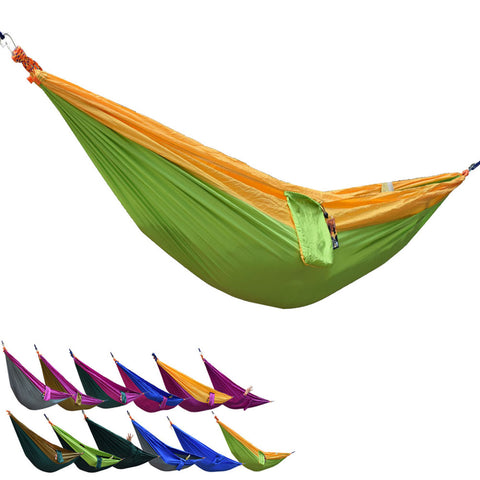 Portable Parachute Nylon Fabric Outdoor Travel Camping Hammock - Hespirides Gifts - 1