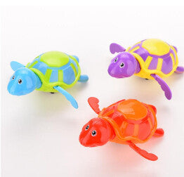 Essential New Born babies Swim Turtle Wound-up Chain Small Animal Baby Children Bath Toy Classic Toys Random Color
