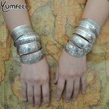 Factory Wholesale Tibetan Jewelry Vintage Silver Bangles Antique Tibetan Silver Cuff Bracelets (Minimum order USD10) - Hespirides Gifts - 1
