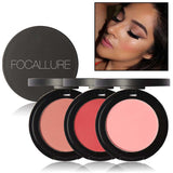 Professional Face Makeup Bronzer Blush Natural Blusher Pigment Mineral Matte Bronzer Blush Powder Palette Focallure Makeup