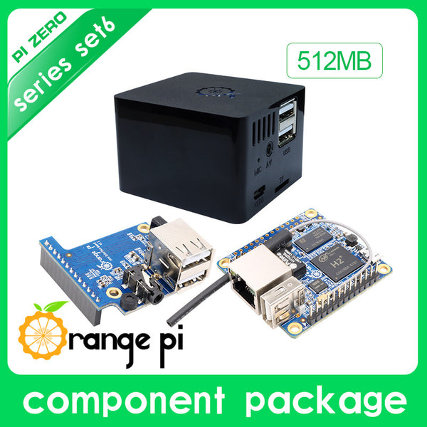 New Orange Pi Zero Set 6:Orange Pi Zero 512MB+Expansion Board+Black Case development board beyond Raspberry Pi
