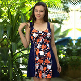 Hot Spring Natural relaxed Casual Dress Swimsuit Extra Large Size Skirt One Piece Floral Swimwear Brand - Hespirides Gifts - 4
