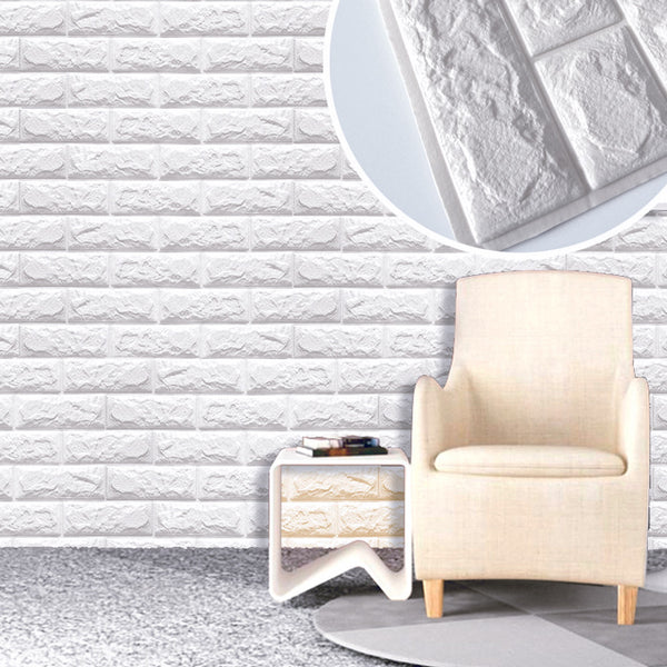 Buy pe foam natural wall stickers patterns 3d wallpaper for Decoration murale brique