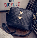 Knitting Women Messenger Bags Fashion Shell Female Bag Women Leather Bag Durable Cross-Body Women Bag Ladies Wallet Shoulder - Hespirides Gifts - 3