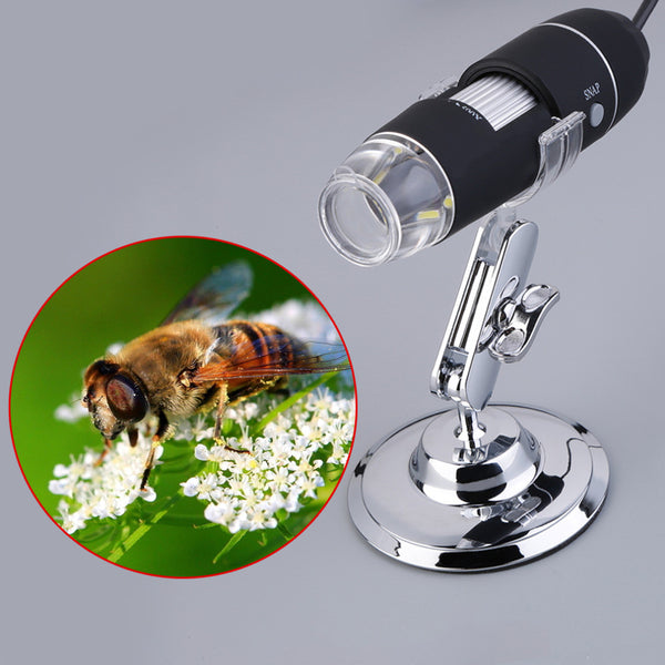 Practical Electronics 5MP USB 8 LED Digital Camera Microscope Endoscope Magnifier 50X~500X Magnification Measure Free Shipping