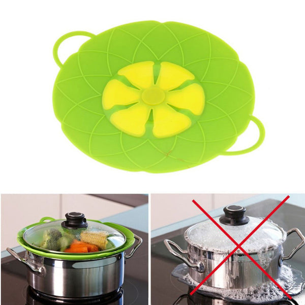"UNIHOME Unihome Cooking Tools Flower Silicone lid Spill Stopper Silicone Lid Cover For Pan 10"" Free Shipping"