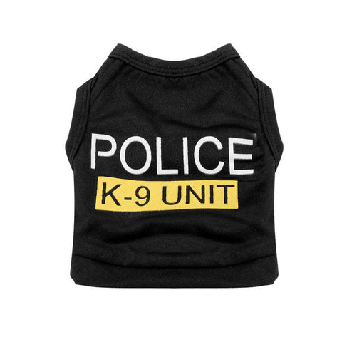 Small Dog Cat Vest Police Puppy T-Shirt Pet Clothes Summer Apparel Costumes Wholesale Hot search - Hespirides Gifts