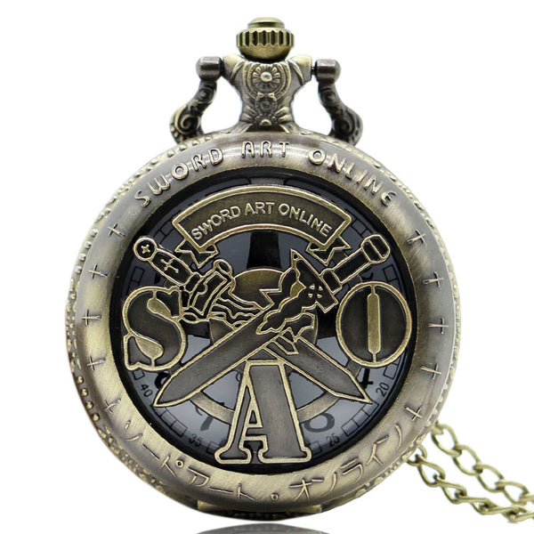 New Pendant Sword Art Online Pocket Watch Quartz Movement Fob Watch P311 - Hespirides Gifts