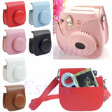 Leather Camera Shoulder Strap Bag Protect Case Pouch For Fujifilm Instax Mini 8 - Hespirides Gifts - 1