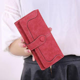 Womens Wallets And Purses 2017 Credit Wallet Women Luxury Brand Clutch Stitching Scrub Leather Money Clip Long Lady's Purse