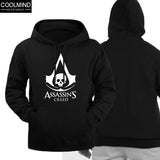 Top Quality Cotton blend assassins creed men Hoodies with hat casual cool fashion pullover sweatshirt for spring and autumn