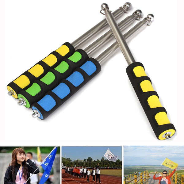 Stainless Telescopic Flag Pole 120CM Portable Handheld Poles for Flags Windsock - Hespirides Gifts
