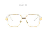 MADELINY High Quingity Square Glasses Frame Women Big Frame Clear Lens Glasses Semi Frame Women Men Optical Frames Glasses MA430