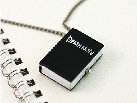 Death Note Black Steampunk Pocket Watch Necklace Pendant Watch P501 - Hespirides Gifts