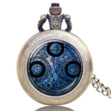 New Arrival Hot UK TV Doctor Who Theme Series Pocket Watch Chain Pendant Watches Dr Who Fans Gift - Hespirides Gifts - 2