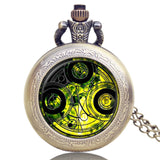 New Arrival Hot UK TV Doctor Who Theme Series Pocket Watch Chain Pendant Watches Dr Who Fans Gift - Hespirides Gifts - 8