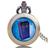 New Arrival Hot UK TV Doctor Who Theme Series Pocket Watch Chain Pendant Watches Dr Who Fans Gift - Hespirides Gifts - 5