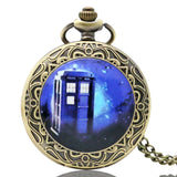 New Arrival Hot UK TV Doctor Who Theme Series Pocket Watch Chain Pendant Watches Dr Who Fans Gift - Hespirides Gifts - 12
