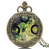 New Arrival Hot UK TV Doctor Who Theme Series Pocket Watch Chain Pendant Watches Dr Who Fans Gift - Hespirides Gifts - 3
