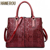 New Fashion PU Leather Women Bag Ladies Luxury Snake Shoulder Bags Designer Handbags High Quality 2017 Spring Ladies Tote Bag