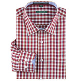 Spring Summer Stylish 100 % Cotton Regular Fit Non Iron Men's Dress Shirt Long Sleeve Square Collar Plaid Stripe Shirts Men - Hespirides Gifts - 9
