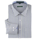 Spring Summer Stylish 100 % Cotton Regular Fit Non Iron Men's Dress Shirt Long Sleeve Square Collar Plaid Stripe Shirts Men - Hespirides Gifts - 13