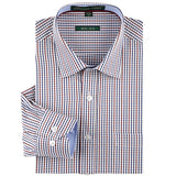 Spring Summer Stylish 100 % Cotton Regular Fit Non Iron Men's Dress Shirt Long Sleeve Square Collar Plaid Stripe Shirts Men - Hespirides Gifts - 7