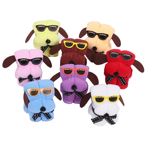 Serviette De Plage 3pcs Microfiber Towels New Dog Cake Shape & Sun Glasses Towel  Hot Wedding Gifts Gift Towel Badhanddoeken