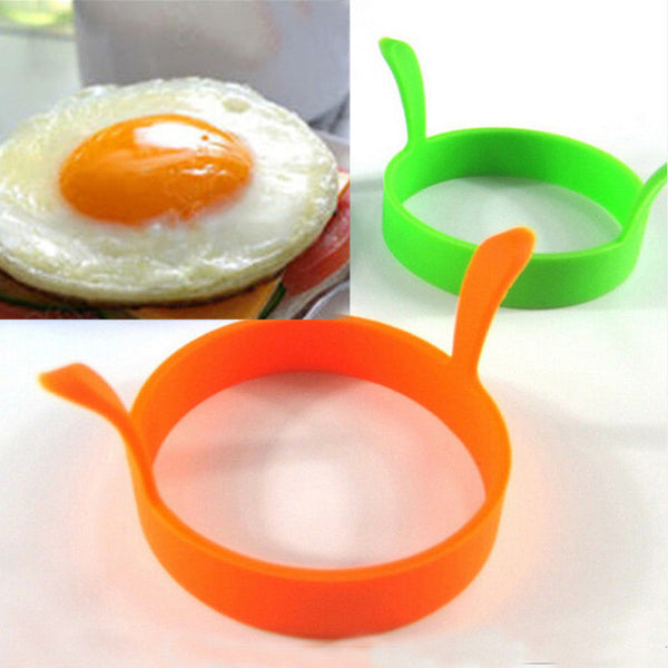 Hot 1 Pc Random Color DIY Round Breakfast Silicone Egg Molds Pancake Cooking Tools Kitchen Accessories