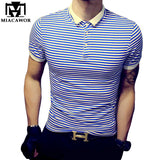 Plus Size 5XL High Quality Casual Men POLO Shirt  Cotton Striped Polo Homme Summer Short-sleeve Camisa Polo Slim Fit Tee MT532