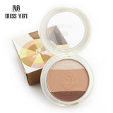 MISS YIFI 3 Colors Make Up Face Powder Bronzer Highlighter Shimmer Brighten Face Pressed Powder Palette Contour Makeup Cosmetics - Hespirides Gifts - 1