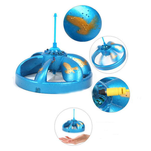 UFO Flying Toys Electric Suspension Induction Hovering Floating Flight Toys Hand Induced With LED  Fun Sports Toys For Children