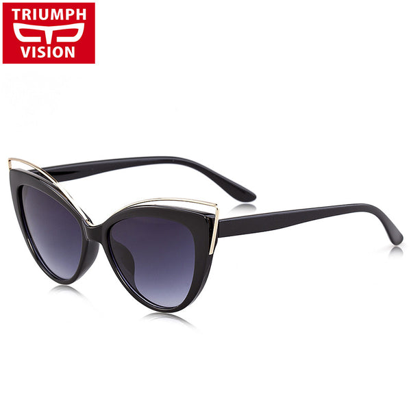 TRIUMPH VISION Ladies 2017 Cat Eye Sunglasses Women Luxury Brand Design Shades Oculos Female Gradient Lens Sun Glasses For Women