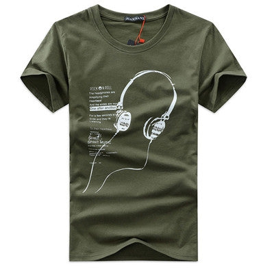 In the summer of men's cotton short sleeved T-shirt Korean fashion men's music Headset wholesale class service - Hespirides Gifts - 2