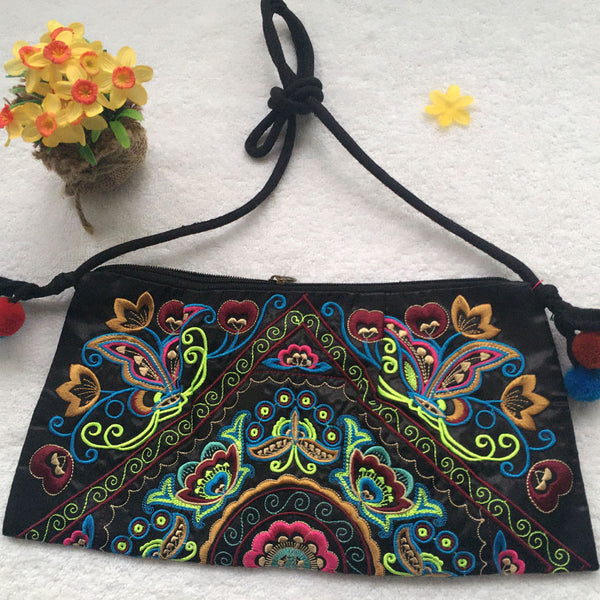 Hot sale Embroidered bags National trend handmade fabric embroidery one shoulder cross-body women messenger Clutch handbag - Hespirides Gifts - 9