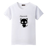 Dandeqi Naughty Black Cat 3D T shirt Women Lovely Shirt Good Quality Comfortable Brand Shirts Soft Tops