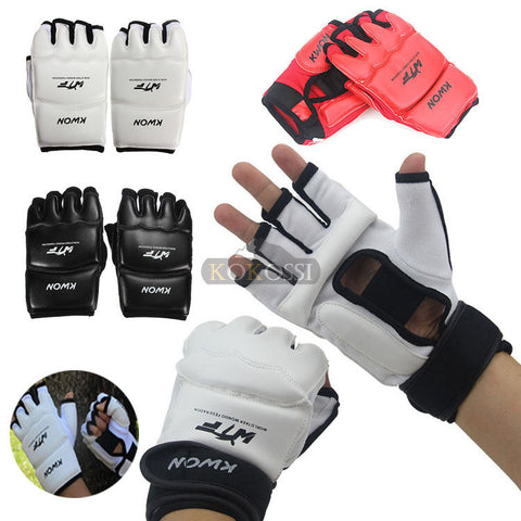 New Half Finger Fight Boxing Gloves Mitts Sanda Karate Sandbag TKD Protector For Boxeo MMA Muay Thai Kick Boxing Training - Hespirides Gifts - 1