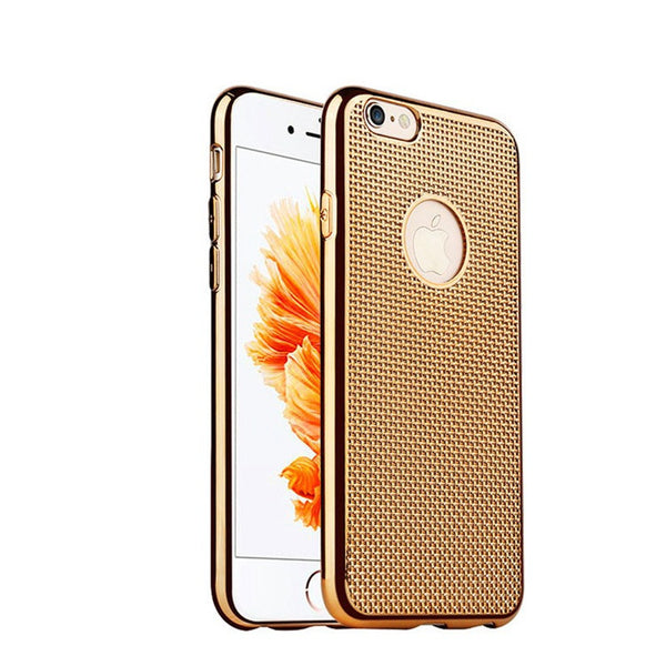New Braided lines Grid Phone case plating for iphone 6 6s plus high quality protective sleeve Radiating soft Silicone shell - Hespirides Gifts - 4