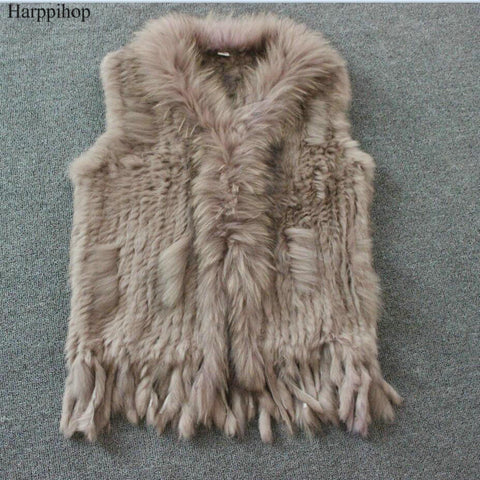 Harppihop qg01 Fur Coat With Free Winter Scarf