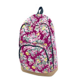 Vintage Retro Rose Floral Printing Backpack Women's Canvas Travel Backpack for Teenage Girls Rucksack - Hespirides Gifts - 3
