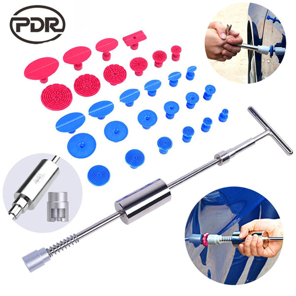 PDR Tools Kit Dent Puller Slide Hammer Reverse Hammer PDR Glue Tabs Fungi Suction Cup For Dent Removal Paintless Dent Repair