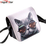 Vogue Star! Bolsos Carteras Mujer Marca Women PU Leather Cat Wearing Glasses Print Messenger Handbag Women Bag YA40-207 - Hespirides Gifts - 1