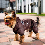 Hot Winter Dog Pet Coat Clothes Padded Hoodie Jumpsuit Pants Costumes XS-XL