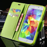 S4/S5 Luxury PU Leather Case for Samsung Galaxy S5 SV I9600 Wallet Holster Phone Back Cover Bag for Samsung Galaxy S4 SIV I9500 - Hespirides Gifts - 1