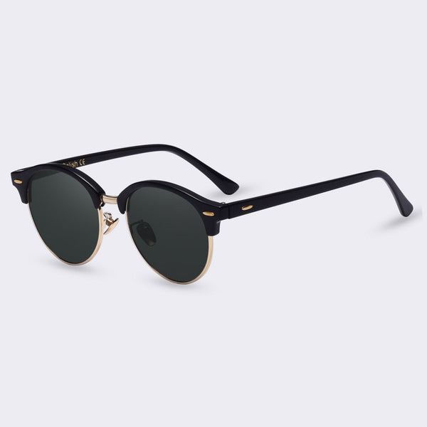 Winla Semi-Rimless Sunglasses Vintage Cool Sunglasses Summer Retro Designer Shades Anti-Reflective Lens Sunglasses UV400 Gafas