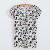 Summer Cool Fashion Tassel Design Hole T-shirt Micky Mouse Print Frayed Hole T Shirts Female Short Sleeve Sexy Thin Ladies Tops - Hespirides Gifts - 10
