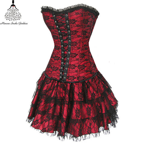Waist training corsets steampunk corselet gothic Plus Size Sexy Gothic corsets hot shapers body intimates corsets and bustiers - Hespirides Gifts - 1