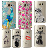 Phone Case For Samsung Galaxy S5/6 S6Edge Beautiful Dandelion Balloons Peacock Fruit Soft TPU Back Cover Skin Shell Capa Celular - Hespirides Gifts - 1